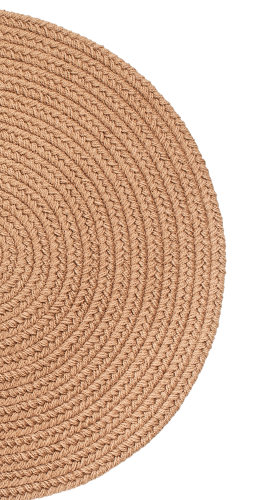 Mt. Mansfield Solid-Color Braided Slice Rug