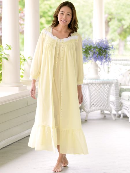 Buttercup Woven Cotton Robe by Eileen West 28028fc8c