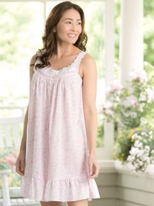 c72d745755 Eileen West Blush Roses Chemise Nightgown