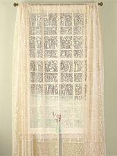 Lace Garden Motif Rod Pocket Window Panel Bird Song