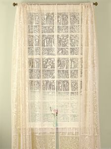 Tree Of Life Lace Rod Pocket Curtain Panel Or Tier