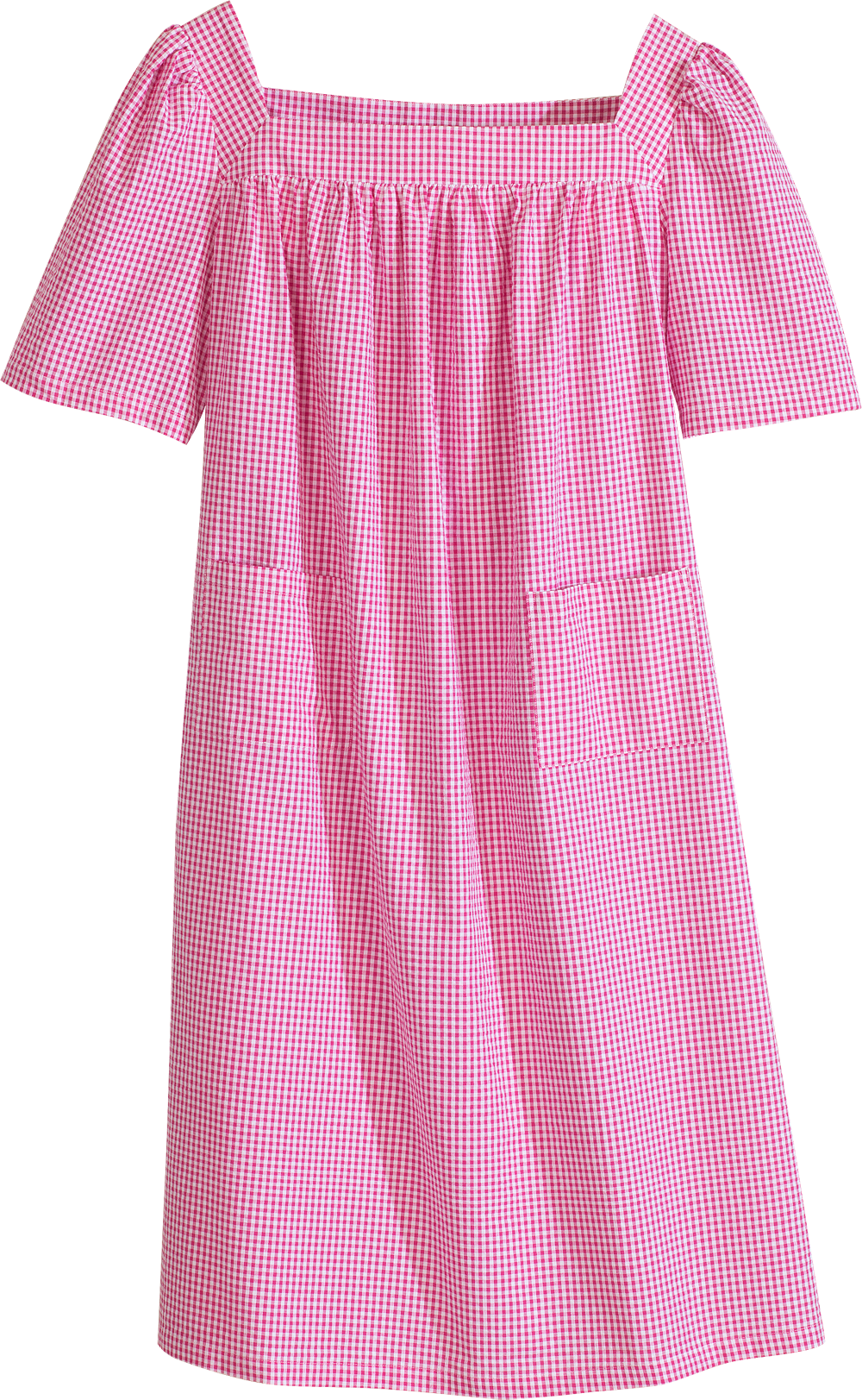 Cotton Patio Dress In Lightweight Seersucker Summery Cotton Dress