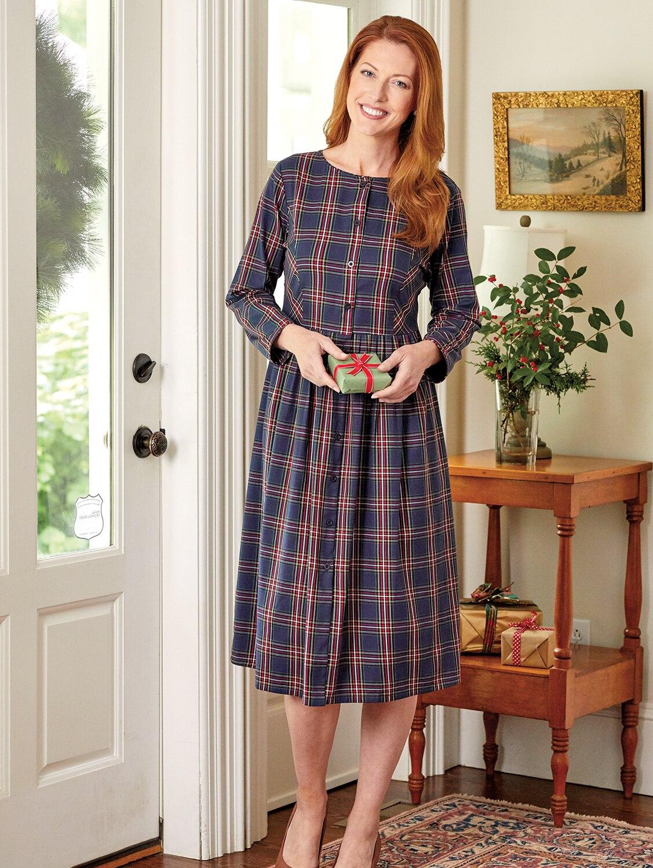 Ella Simone Tartan Plaid Dress