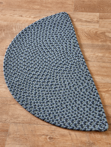Mt. Mansfield Multi-Color Braided Slice Rug