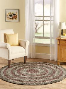 Mt Mansfield Multi Color Braided Round Rug