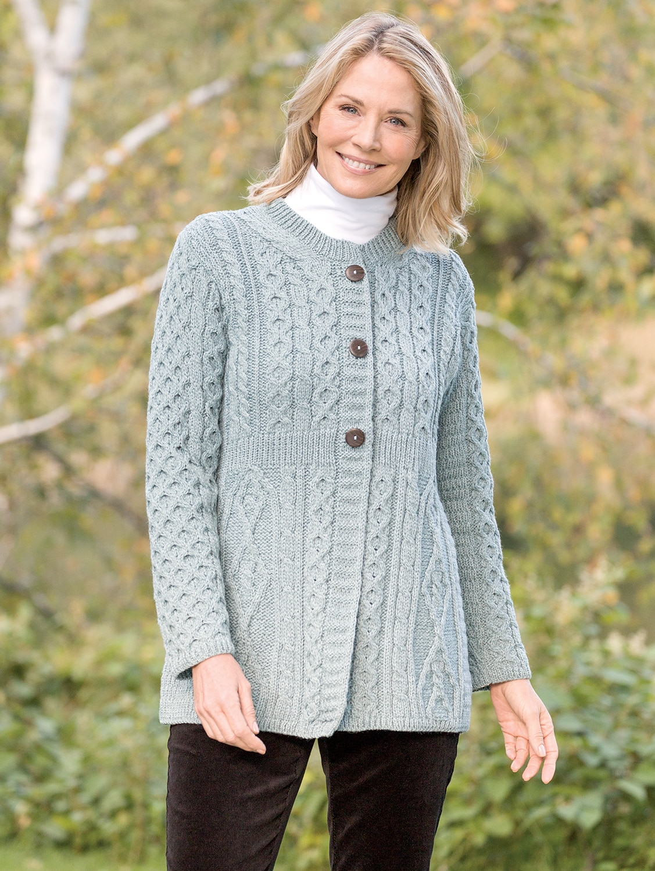 Women's Irish Wool A-Line Cardigan