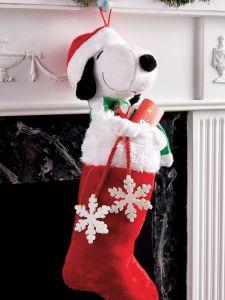 peanuts snoopy stocking