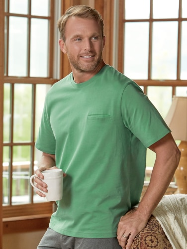 78a6a9fa Knit Sleep Shirt for Men and Women - Cotton Pajama Top