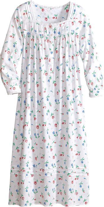 45f66a658a Lanz Tulip Print Cotton Knit Nightgown