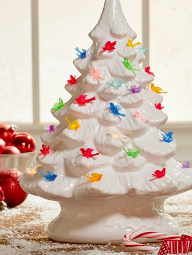 Ceramic Christmas Tree Bird Bulbs Yuletide Animal Lights