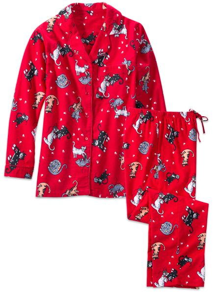 Cat Flannel Pajamas Breeze Clothing