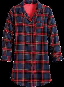 Womens flannel nightshirt long sleeve cotton sleep shirt for Womens flannel night shirts