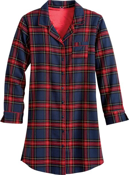 Womens Flannel Nightshirt  a1a00786d