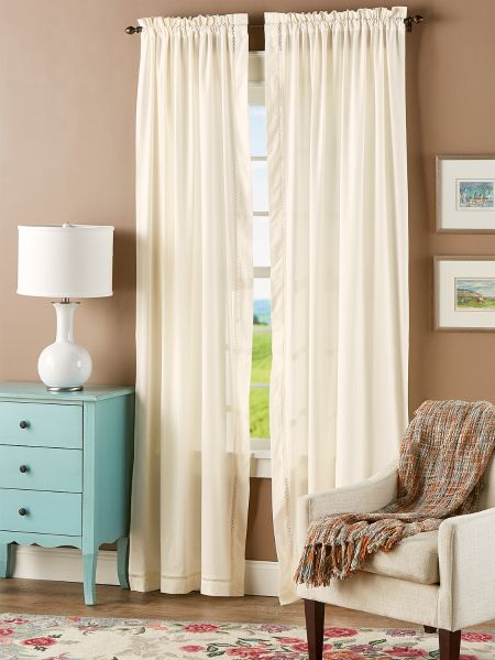 Crocheted Rod Pocket Curtains, Lace Curtains Band