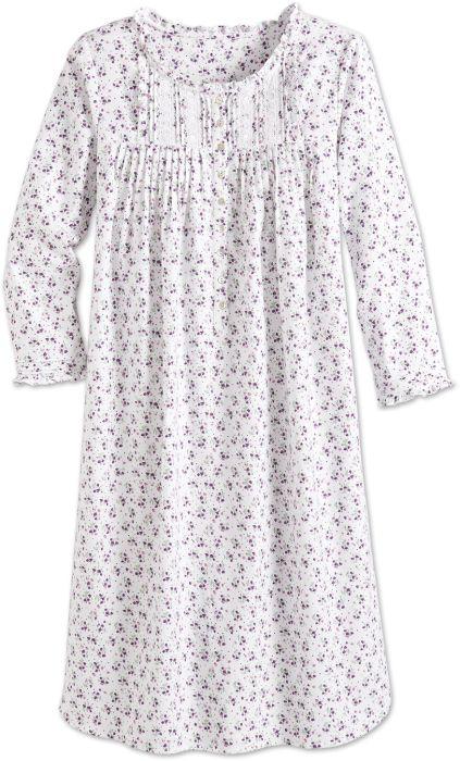 Eileen West Silky Flannel Floral Nightgown 624b691eb