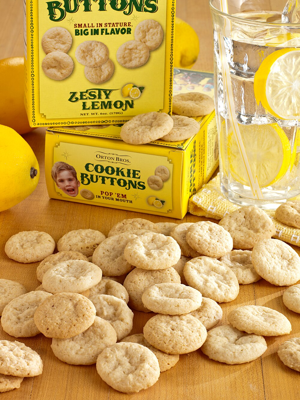 Orton Brothers Cookie Buttons, 3 Boxes
