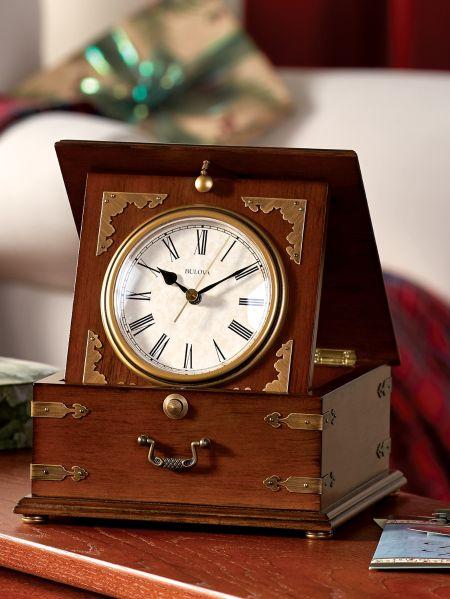 Bulova Antique Desktop Clock - Antique Bulova Clock Desk Timepiece