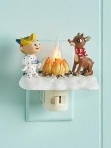 Kids Night Light Rudolph The Reindeer Flicker Light