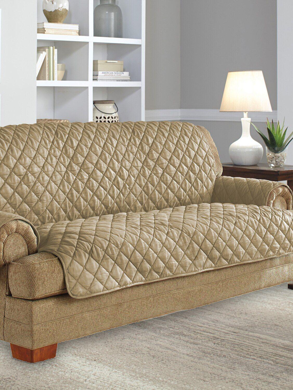 Microsuede Quilted Waterproof Sofa Protector