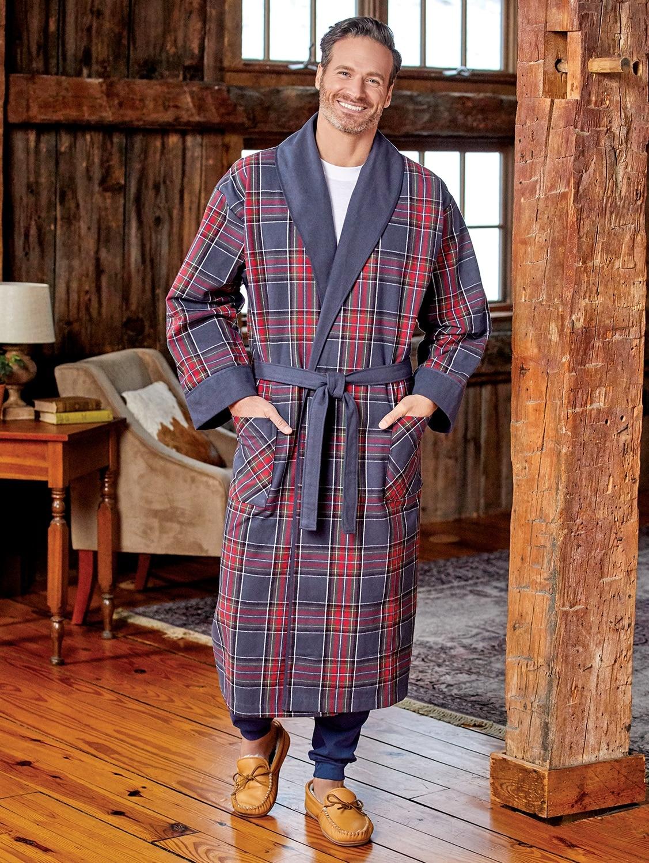 Men's Double-Comfort Portuguese Flannel Robe