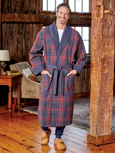 hot-selling official enjoy best price harmonious colors Men's Double-Comfort Portuguese Flannel Robe