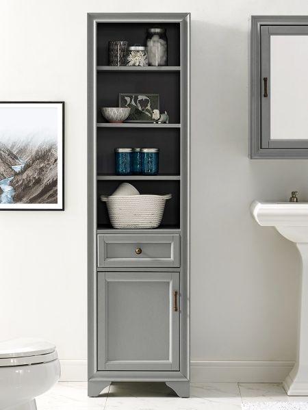 Tall Narrow Linen Cabinet Space, Tall Bathroom Linen Cabinets