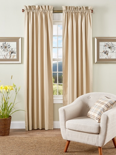 Insulated Rod Pocket Thermal Curtains