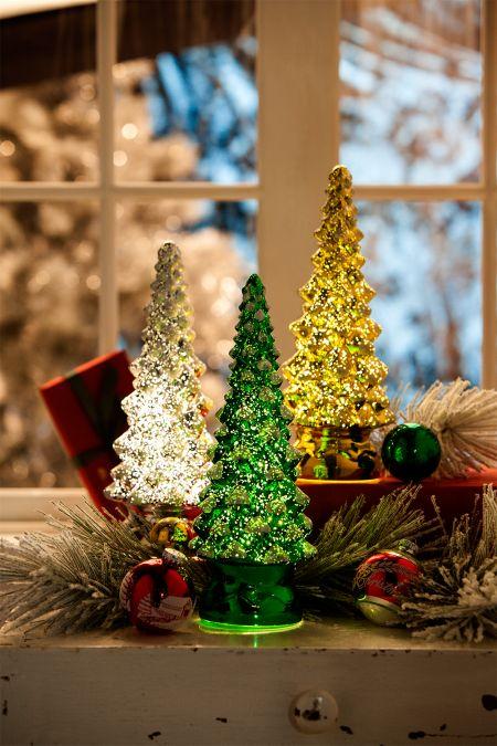 lighted mercury glass christmas tree - Glass Christmas Trees