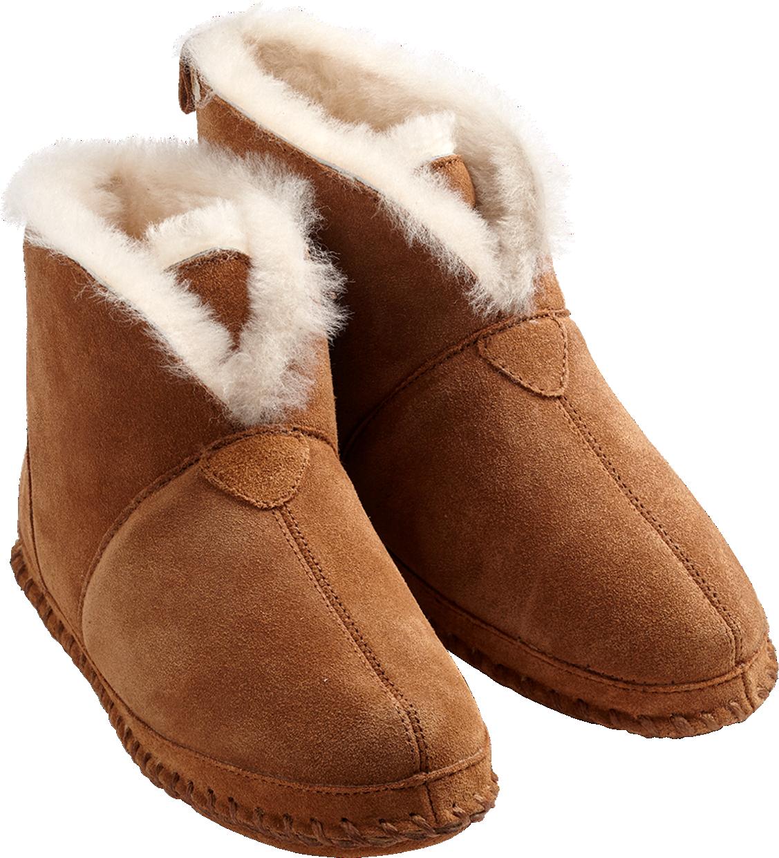 Mens Genuine Sheepskin Slippers Boots Booties Wool Fur Hard Sole