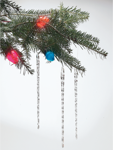 Icicle For Christmas Trees.One Dozen Glass Icicles