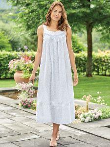 Eileen West Lavender Fields Cotton Nightgown b5980cf5f