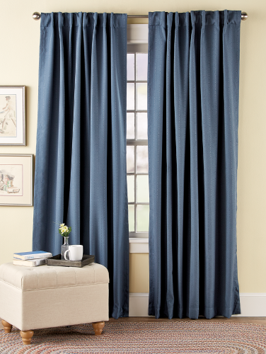 Blackout Rod Pocket Curtains With Back Tabs Hudson Dot Curtains