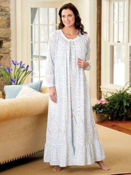 Blue Floral Eileen West Moonlight Sonata Robe 756800bd2