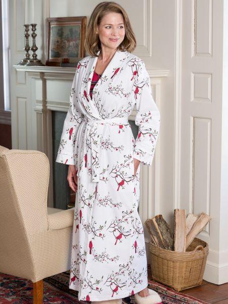 e058ac0f068d Womens Portuguese Flannel Wrap Robe Triple Brushed Bathrobe