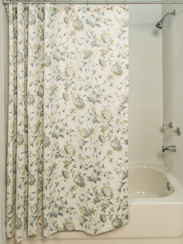 Whispering Hydrangeas Shower Curtain
