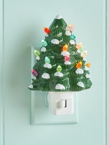 Christmas Tree With Lights.Ceramic Christmas Tree Night Light