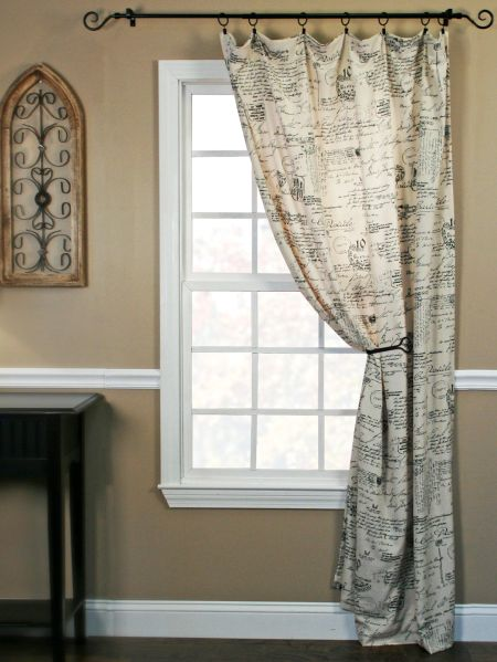 Classic Cursive Rod Pocket Curtain Panel