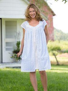 caeddf21ac9 Eileen West Lavender Fields Short Sleeve Robe
