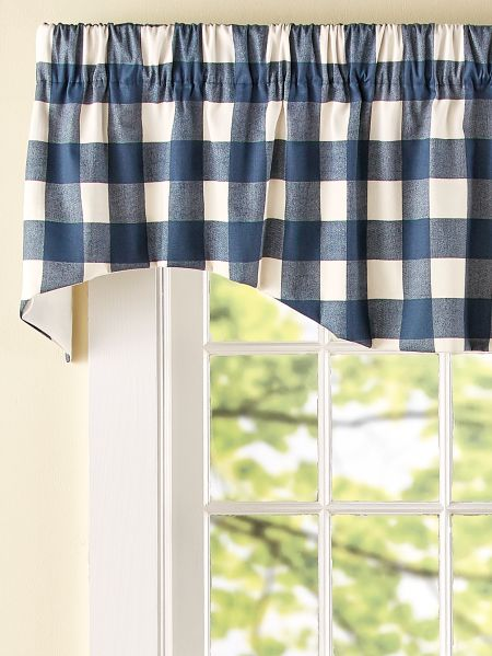 Buffalo Check Scalloped Window Valance Vermont Country Store