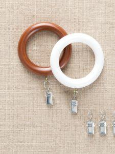 7 Sloan Wood Curtain Rings