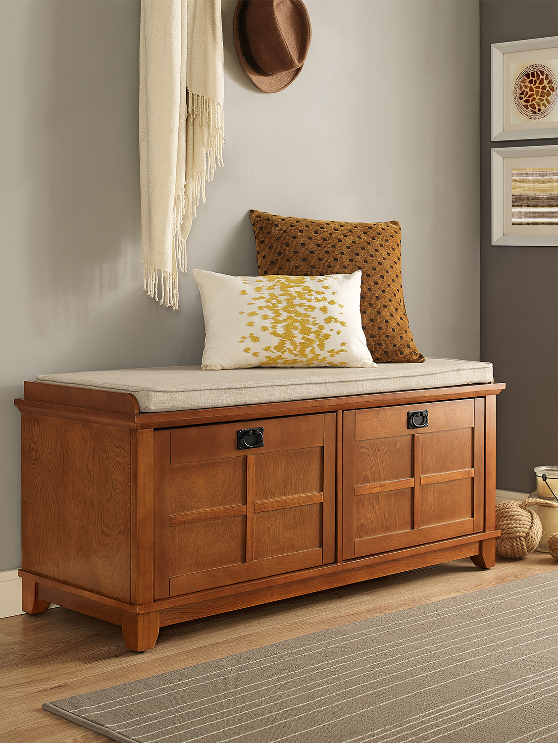 Adler Entryway Storage Bench