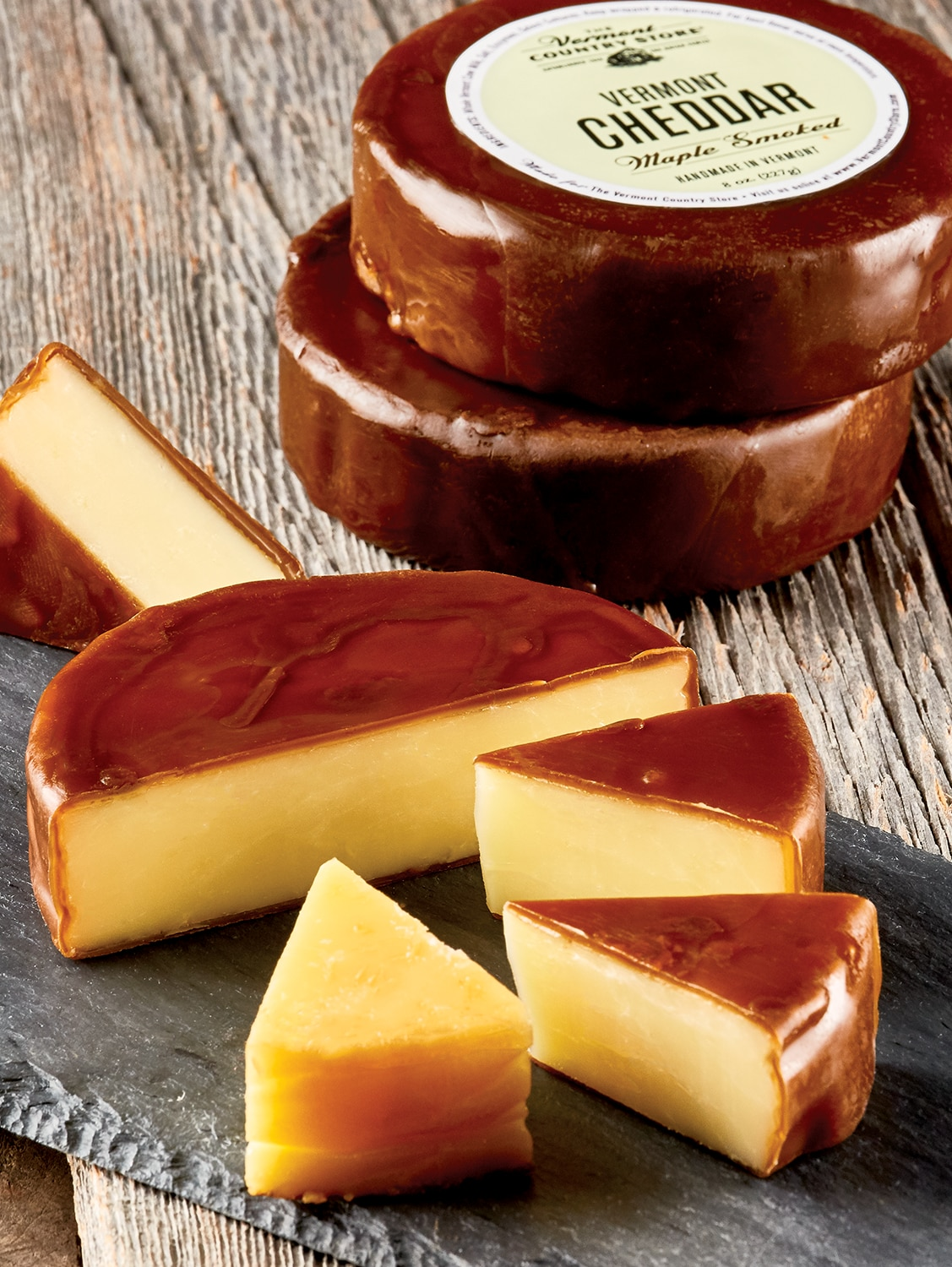 Vermont Maple Smoked Cheddar Cheese Wheel