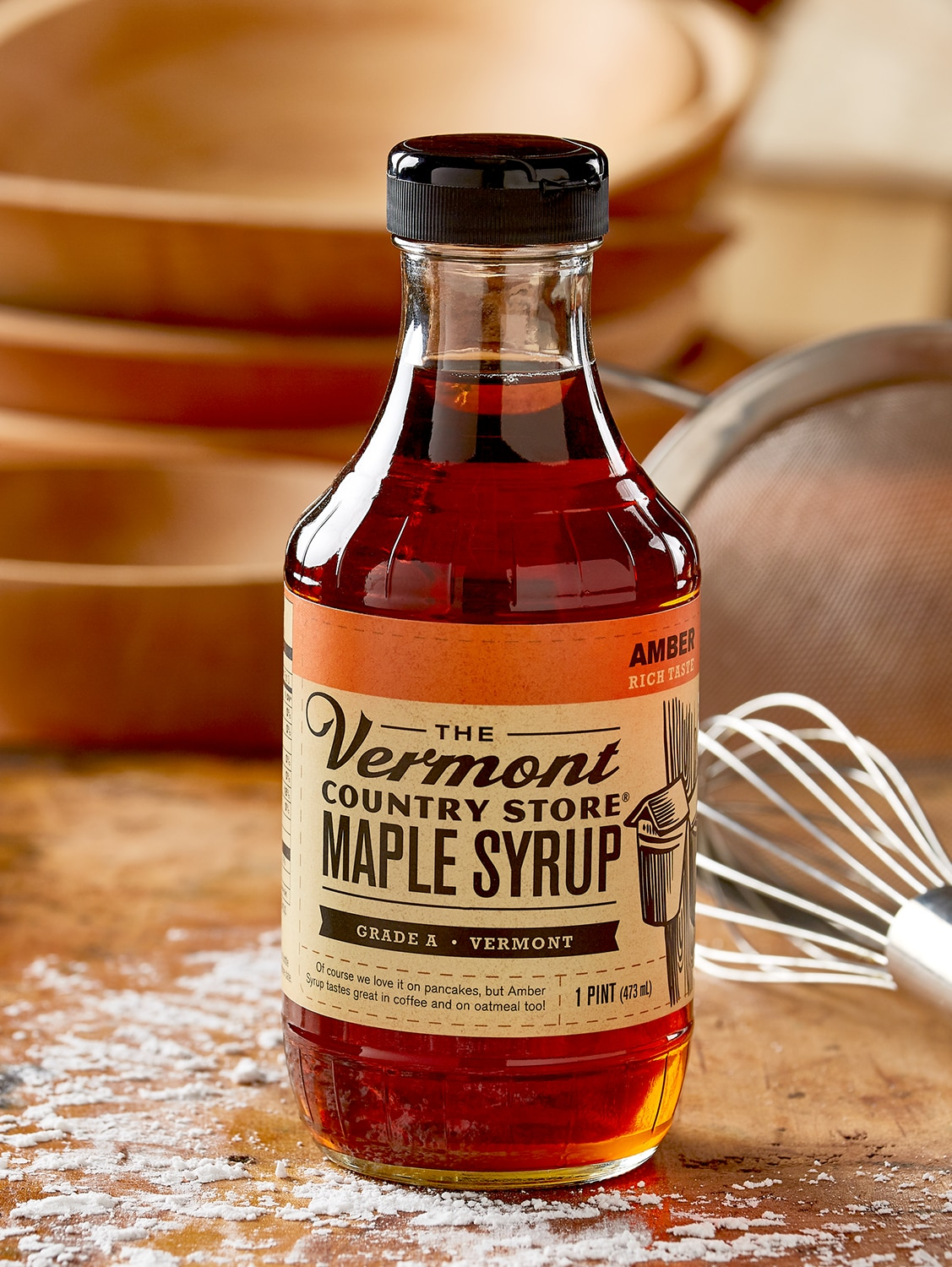 Amber Maple Syrup Pint Bottle