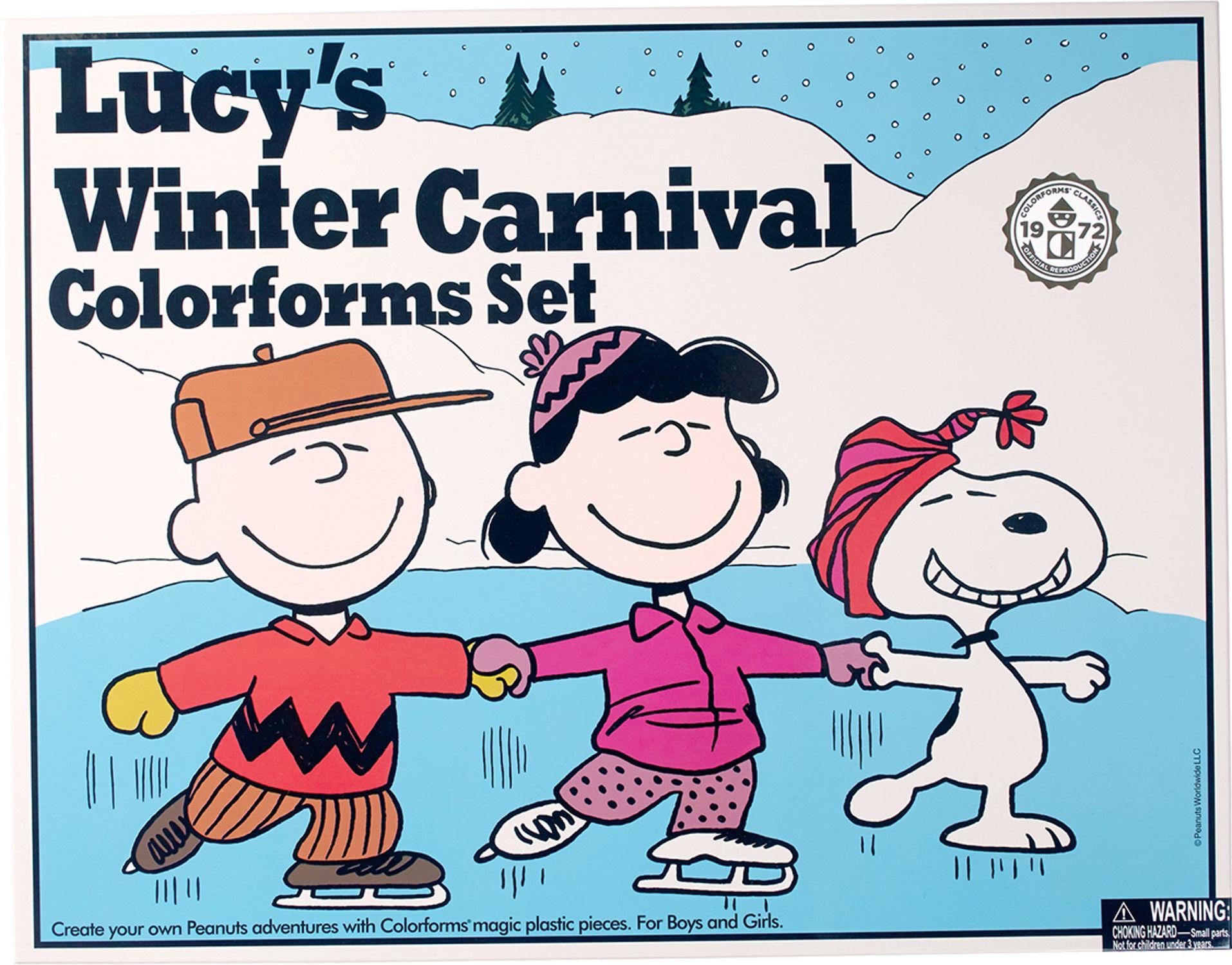 e8c6b249f228f9 Peanuts Colorform Set for Lucys Winter Carnival