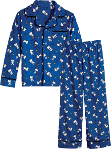 Kids Snoopy and Woodstock Jersey Knit Pajamas