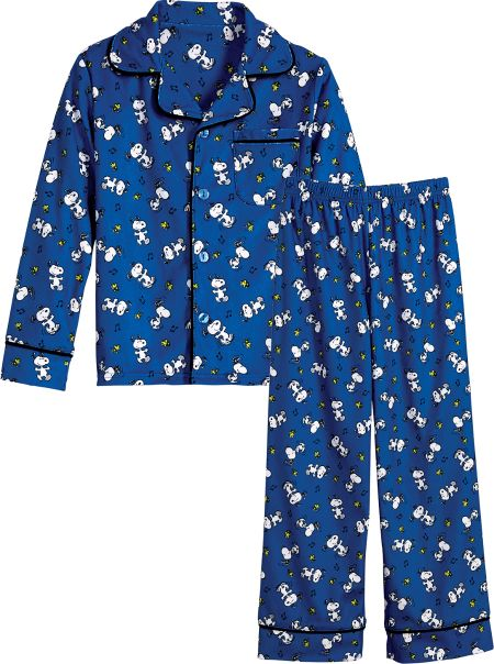 Kids Snoopy and Woodstock Jersey Knit Pajamas 7ff1678d5