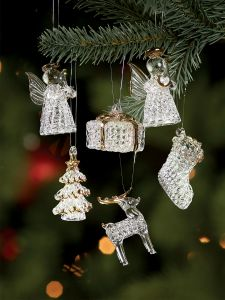 ice crystal ornaments set of 6