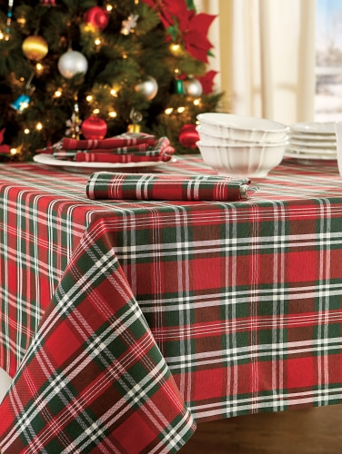 Christmas Plaid Tablecloths Holiday Table Linens