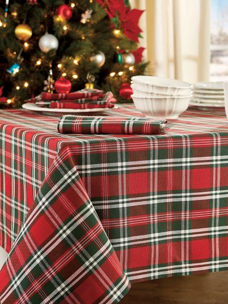 Christmas Plaid Tablecloths Holiday Table Linens