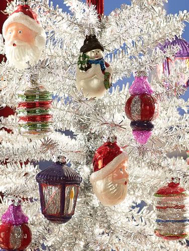 Vintage Glass Ornaments Set Of 12